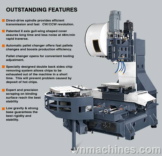 Argo Milling Machine CNC Hi-Speed Machining Center A-56-Plus APC A-56T APC